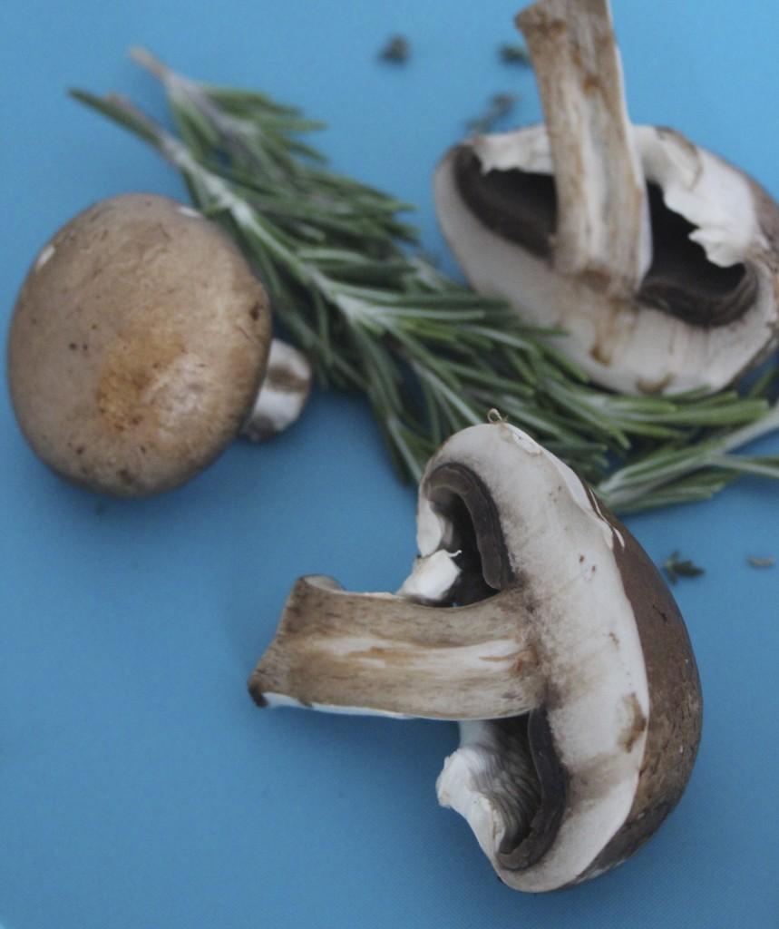 mushrooms with rosemary