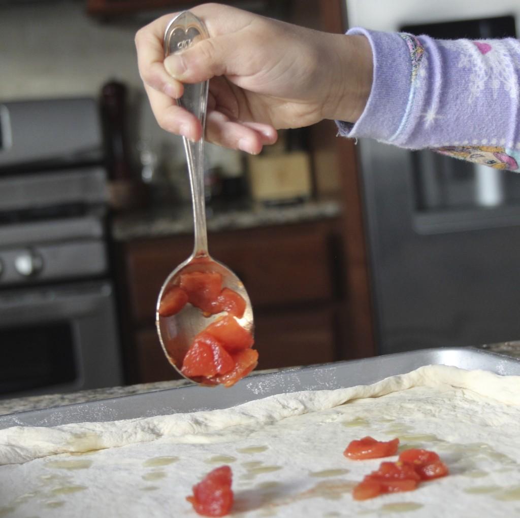 sauce on dough
