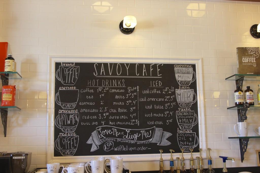savoy bookstore cafe