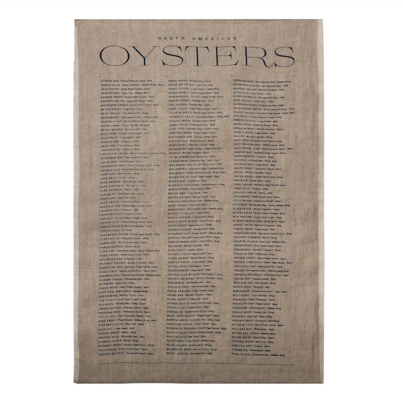 Sir | Madam Oyster List Tea Towel in Natural