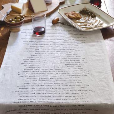 European Wine Varietals Table Runner