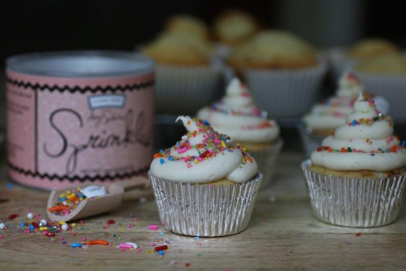 Vanilla Cupcakes & Sprinkles