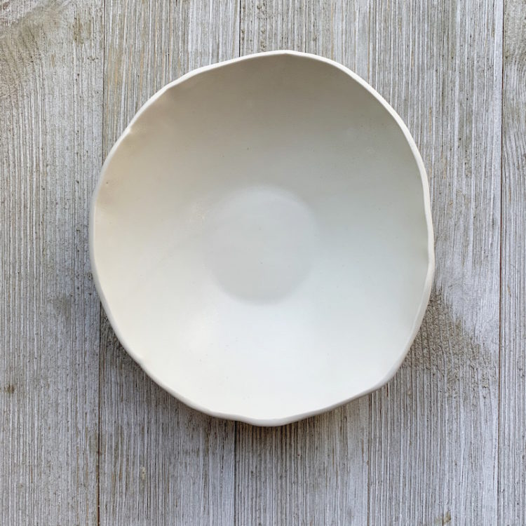 Hand Formed Porcelain Noodle Bowl from DBO Home