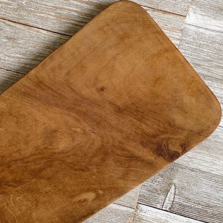 Teak Root Board for Serving or Cutting Worn Look