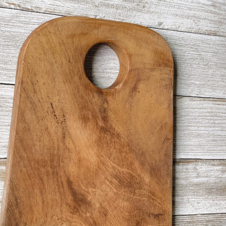 Handle of Teak Root Cutting Board with Rounded Edges